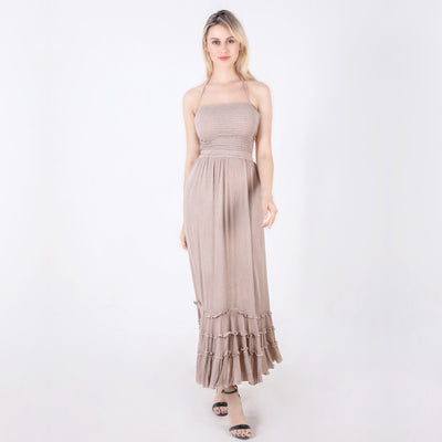 Bohemian Sleeveless Summer Boho Dress Women People Backless Sexy Long Dress Party Hippie Bandage Beach Maxi Dress XXL