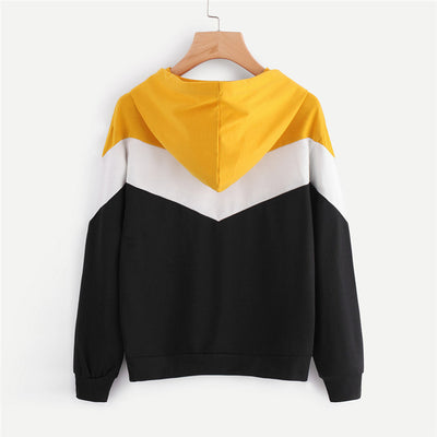 Casual Hoodie Women Long Sleeve hoody ladies Patchwork Sweatshirts Hoodies Pullovers Moletom Feminino Dropshipping F40AT14