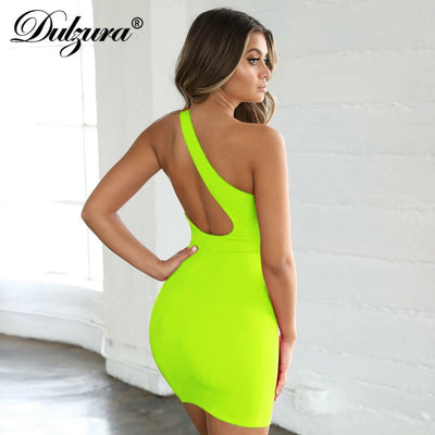 Dulzura summer women dress one shoulder backless bodycon sexy party dress festival vestidos clothes elegant midi club