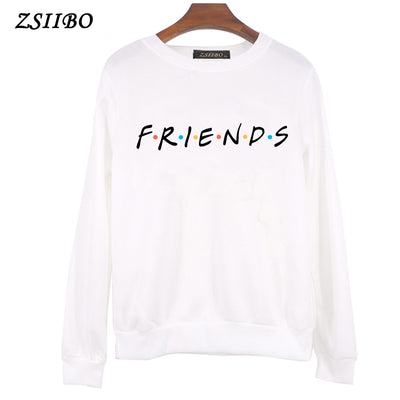 FRIENDS Letter Print Women Hoodies Sweatshirt Winter Autumn Thicken Harajuku Sudaderas Mujer Long Sleeve Pullovers ping