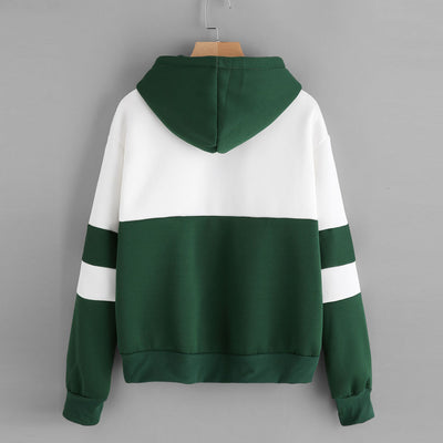 Fall hoodies women harajuku hoodies cute cotton casual crop patchwork blouse pullover sweatshirt hoodie korean style hoody