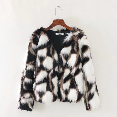 Faux Fur Coats Long Sleeve Thicken Teddy Coat Warm Winter Jackets Coats Women Fashion Streetwear Cardigans Outerwears