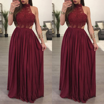 Hot Women Ladies Maxi Summer Long Evening Party Dress Beach Dress Sundress White Wine Red Clothes