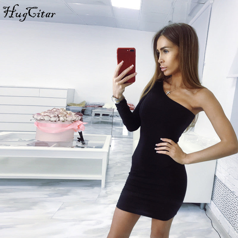 Hugcitar cotton one one shoulder slope long sleeve high waist sexy bod -  Younger21 c3162106879a