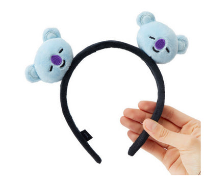 KpophomeNew BTS Bulletproof Cadet BT21 With Cartoon plush toy Headband Cute Gift personality Fashion cosplay