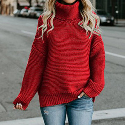 LASPERAL Women Knitted Turtleneck Sweater Casual Oversized Pullover Autumn Winter Streetwear Women Sweaters and Pullovers 2018