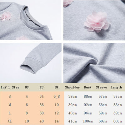 Ladies Heavy Blend Crew-neck Sweater Pullover Long Sweat Tops Jumper Womens Lady Warm Brief Daily Sweaters