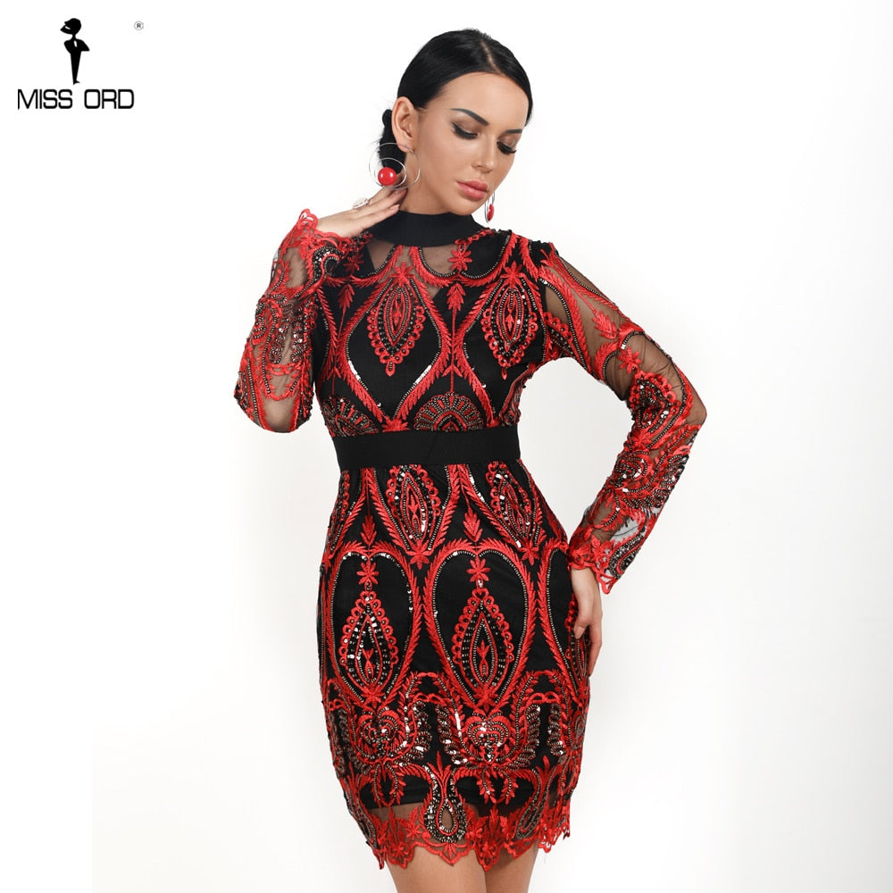 bdc80c1a94 Missord 2019 Sexy Women Long Sleeve Sequin Backless Dresses Women Hollow  Out Maxi Party Elegant Bodycon Dress FT9564