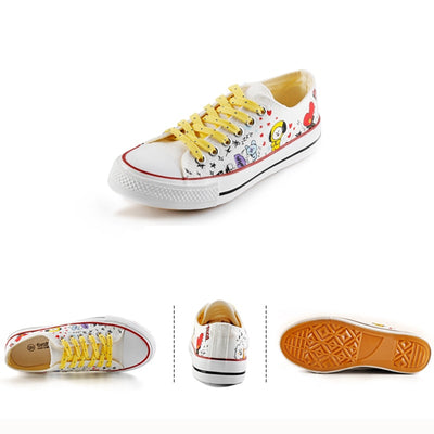 New Kpop Bangtan Boys Canvas Low Tops Shoes JUNGKOOK JIMIN V Suga Women Casual Shoes