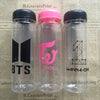 New Kpop BTS BT21 Bangtan Boys TWICE WANNA ONE Group Bottles Fans Club Letter Printed Plastic Bottle Clear Lemon Cup 500ml