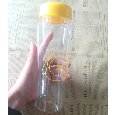 New Kpop Bangtan Boys Group Bottles Summer BTS BT21 Printed Plastic Bottle Cartoon Q Freshness Letter Clear Lemon Cup 500ml