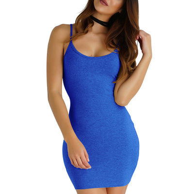 New Sexy Dress Women Summer Spaghetti Strap Backless Slim Tight Women Mini Party Dresses Sundress Vestidos Femme Plus Size