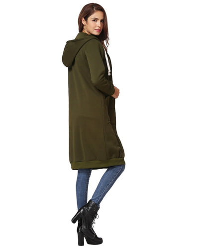 Oversized Hoodies Sweatshirt Autumn Women Casual Long Hooded Jacket Coat Pockets Zip Up Outerwear 3XL 4XL 5XL Plus Size Top