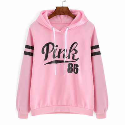 Pink 86 Print Pop Women Hoodies Sweatshirts Hoodies Outwear Hip-Hop Girl Jimin Clothes