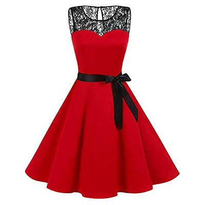 Plus Size Summer Women Midi Dress Gothic Print Sleeveless Ladies Lace Dresses Vintage Party Dress Women Clothes Vestidos