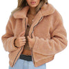 S-3XL Women Fluffy Faux Fur Coat Winter Plush Fleece Thick Warm Shaggy Jacket Overcoat Female Lapel Zipper Outwear Casaco