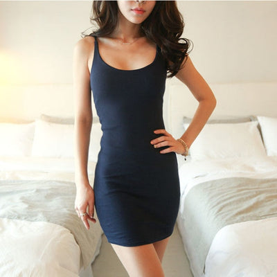 Sexy Sleeveless Slim Women Dresses Sexy Backless Vestidos Vest Tanks Bodycon Dress Strap Party Dress