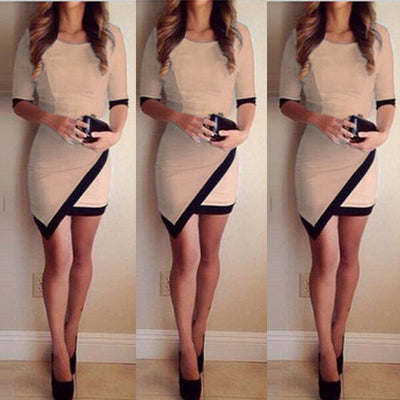 Sexy Women Bandage Bodycon Half Sleeve Evening Sexy Party Mini Dress Ladies Womens Brief Daily Dresses Clothing