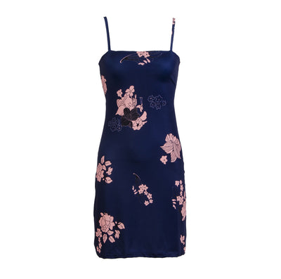 Sexy Women Boho Bodycon Slim Backless Lace-up Short Mini Pencil Dress Sleeveless Spaghetti Strap Floral Print Party Beach Dress
