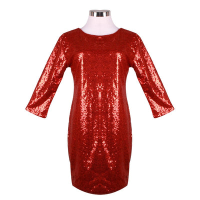 Sexy Women Dress Spring Autumn Female O Neck Long Sleeve paillette Sequins Backless Bodycon Slim Pencil Party Dresses