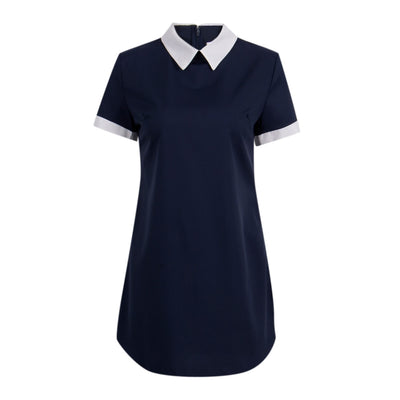 Sexy Women Summer Dress Casual Short Sleeve Solid Female Turn Down Collar Womens Office Dresses Woman Short Mini Dress outfits