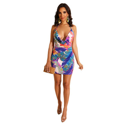 Sukienka Letnia Dames Jurken Ropa Mujer Modis Summer Bodycon Roupas Robes Sexy Openwork Nightclub Irregular Club Dress