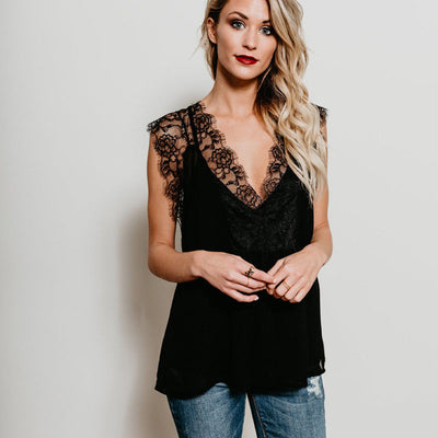 Summer Slim Women Blouses Sexy Hollow Out Blusas Feminina Tank Tops Female Black Rose Lace Blouse Sleeveless Clothing