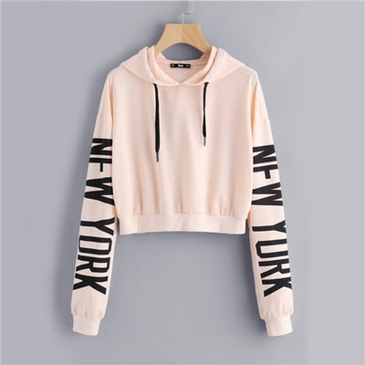 SweatyRocks Drop Shoulder Letter Print Sleeve Hoodie Women Pink Long Sleeve Sporting Pullovers Sweatshirt Casual Sweatshirt
