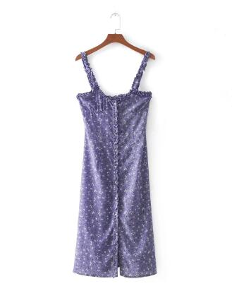 TEELYNN mini women dress vintage purple floral chiffon strap Sleeveless sexy summer beach dresses chic Boho dress vestidos