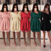 TEXIWAS spring Off shoulder patchwork ruffle Dress Sexy slim Backless Dress Women Wrap pleat irregular Party Dress