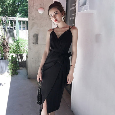 TWOTWINSTYLE Elegant Women Dresses Sleeveless Bowknot High Waist Backless Midi Evening Party Dress Female Summer New
