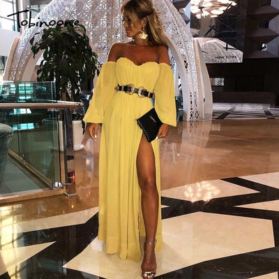 Tobinoone Strap hollow out party dress women Sexy backless summer dress long Streetwear button casual dress vestidos 2019