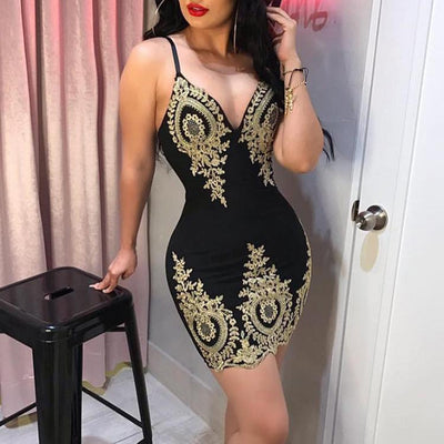 Vestidos Women's Dresses Spring Summer Dress Women's Bandage Bodycon Sleeveless Evening Party Lace Patchwork Mini Dress