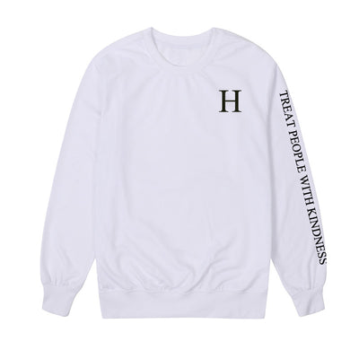 Vsenfo Harry Style Sweatshirts Women Treat People With Kindness Hoodies Funny Letters Printed Harajuku Pullover Spring Autumn
