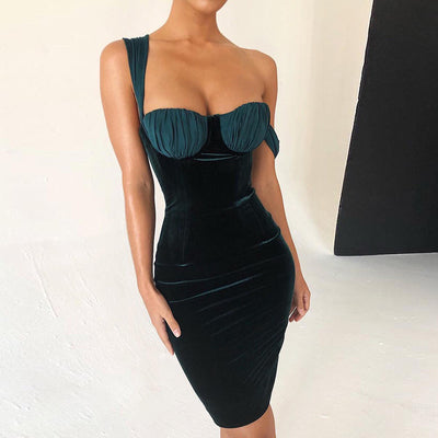 WHZHM Vintage Wrap Strapless Dress Women Spaghetti Strap Backless Summer Sleeveless Sexy Party Off Shoulder Backless Dress Women