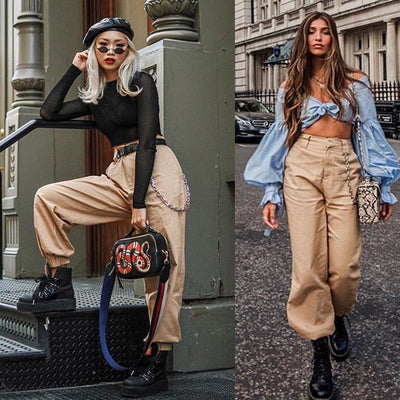 Women High Waist Fashion pant Elegant Hip hop Vogue Pant Ladies pantalon femme harajuku Trousers streetwear dames kleding
