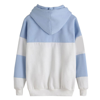 Women Hoodie winter Crop patchwork blouse pullover Tops seventeen kpop clothes streetwear bluzy damskie zimowe