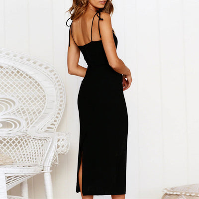 Women Sexy Off Shoulder Backless Sleeveless Dress Evening Party Dress Black White Blue Colors