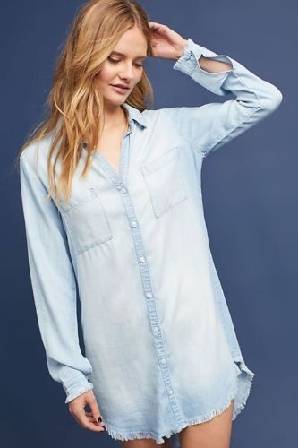 Women Shirts Casual V Neck Blouse Tassel Denim Top Ladies Tunic Long Sleeve Shirt Summer Long Tops Fashion