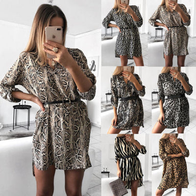 Women Tops Jumper Dress Plus Size Long Sleeve Crew Neck Baggy Casual Shirts