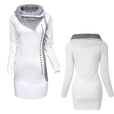 Women Winter Long Sleeve Pullover Jacket Sweater Coat Hooded Jumper Tops