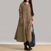 ZANZEA Women Hooded Dress Autumn Vintage Casual Loose Long Dresses Ladies V Neck Long Sleeve Cotton Vestidos Plus Size