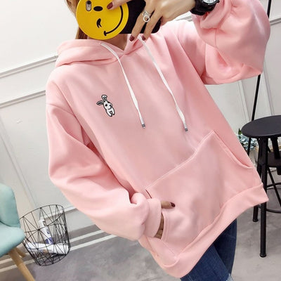 harajuku Rabbit ear hoodies women autumn winter sweatshirts tops for women hoodied pullovers tracksuits jacket outwear 2