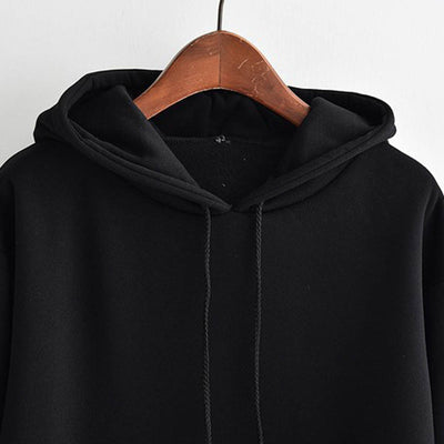 hoody ladies Smiling Face Sweatshirt Hooded Pocket Tops Blouse ulzzang harajuku hoodie oversized hoodie woman