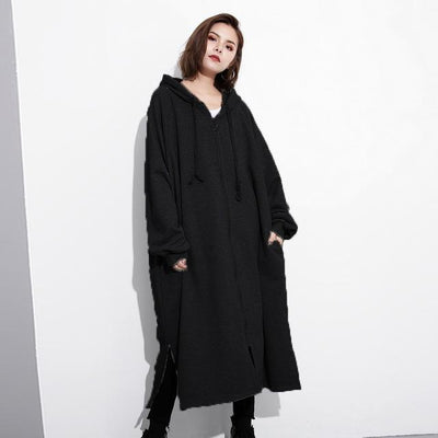 Zanzea Women Winter Hooded Jacket Coat Long Sleeves Oversized Hoodies Sweatshirts Female Pullover Solid Loose Outwear Overcoats