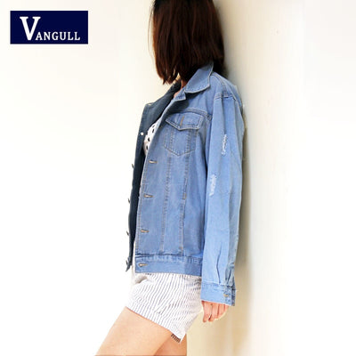 Women Basic Coat Denim Jacket Women Winter Denim Jacket For Women Jeans Jacket Women Denim Coat loose fit casual style