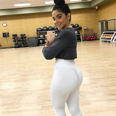 Ruching push up leggings for fitness clothing bodybuilding sexy legging sportswear athleisure black women's pants