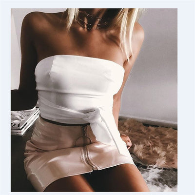 New Fashion Skirt Women Zipper PU Leather Pencil High Waist Mini Skirt Sexy Bodycon Office Lady Skirt 5 Color