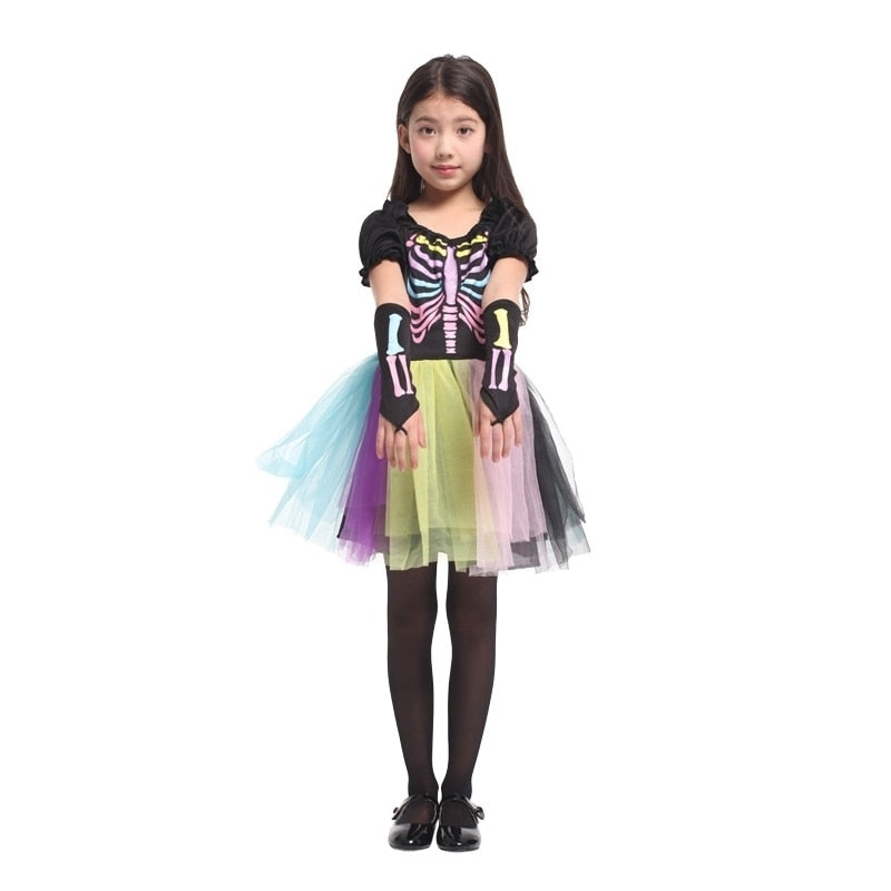 Halloween Costumes For Girls Scary.Scary Skeletone Halloween Costume For Kids Witch Animal Princess Girl Children Child Scary Clown Costumes Kid Fancy Dress Party