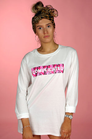complicated long sleeve top image 1